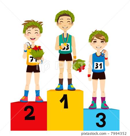 Sport Podium Winners Stock Illustration 7994352 Pixta