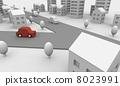 汽車和道路 8023991