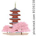 Five storey cherry tree 8036238