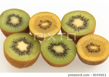 Green kiwi and gold kiwi white back 8044661