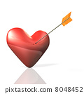 3D回报了描述箭头的图象瞄准心脏 8048452