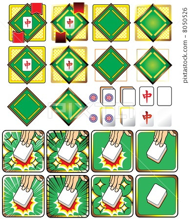 mahjong, manga-style, mahjong tile 8050526