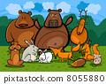 fox, rabbit, beaver 8055880
