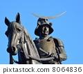 日期Masamune骑马雕像 8064836
