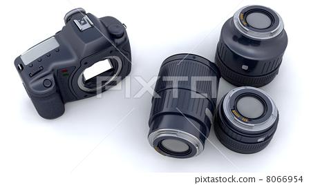 Digital SLR Camera Body and Lenses 8066954