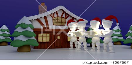 Carol Singers at Winter Cabin 8067667