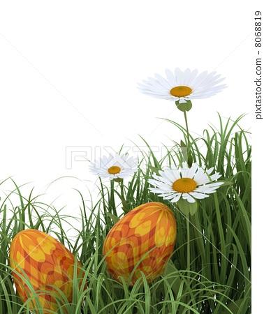 easter eggs in spring flowers 8068819