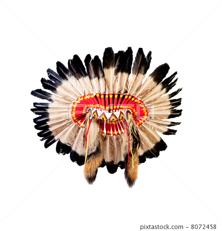 native american indian chief headdress (indian chief mascot, ind 8072458