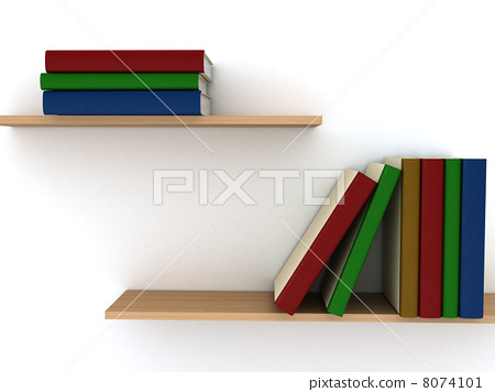Stack of Books on white background 8074101