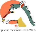 ใบหน้าของม้าญี่ปุ่น 8087996