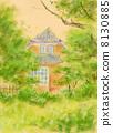 Pastel painting summer resort 8130885