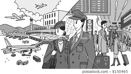 공항, 에어포트, 비행기 조종사 8150465