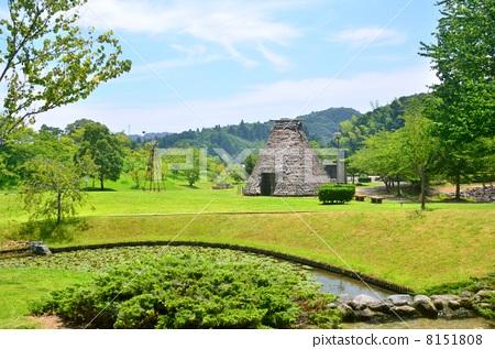 사가라 유전의 마을 공원의 풍경 (시즈오카 현 마키노하라시) 8151808