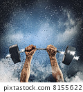 dumbbell, bodybuilder, hand 8155622