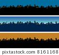 도시 풍경 밤 고층 빌딩 8161168