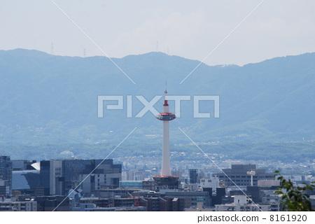 Kyoto Tower facing Kiyomizudera Temple 8161920
