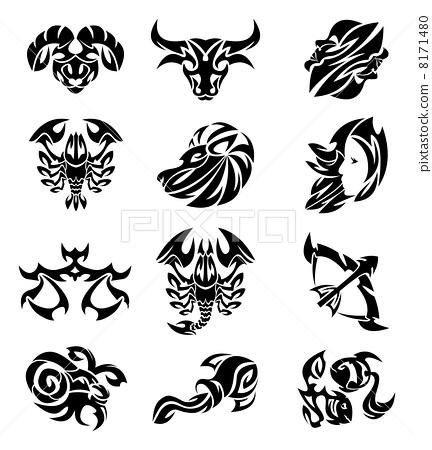 Tribal zodiac 8171480