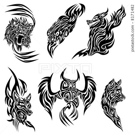Wild animals tattoo 8171482