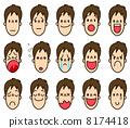 man, facial expression, vectors 8174418