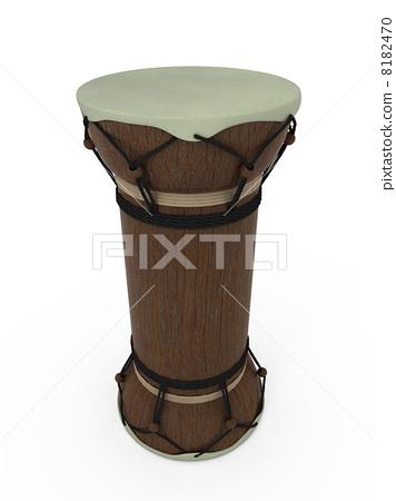 Talking drum standing 8182470