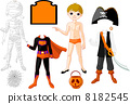 Boy with  costumes  for Halloween Party 8182545