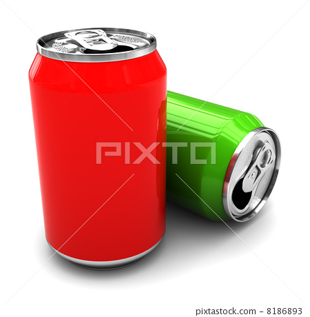 two alluminum cans 8186893
