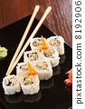 roll, plate, sushi 8192906