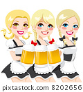 Oktoberfest Waitress Beer Toast 8202656