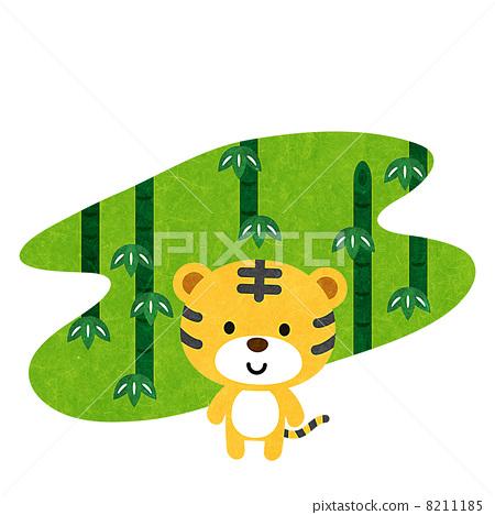 Tiger and bamboo 8211185