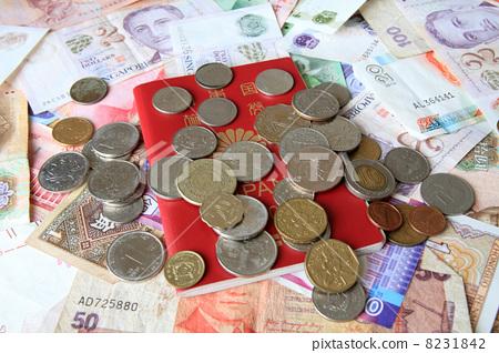 여권과 지폐 · 동전 8231842
