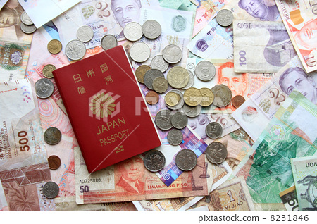 Passport and banknotes · coins 8231846