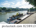 Boat of the Seine river 8238913