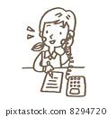 电话 女生 女孩 8294720