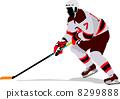 冰球 曲棍球 矢量 8299888