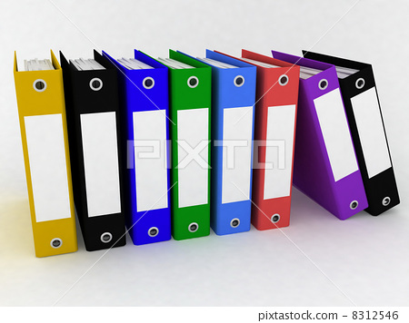 Folders for papers on a white background 8312546