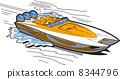 Speedboat On Water 8344796