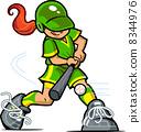Girl Baseball Batter 8344976