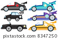 Six different styles of toy cars 8347250