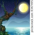 星星 夜晚 月亮 8347495