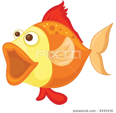 Isolated tropical fish on white 8349436