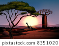 图形 长颈鹿 动物 8351020