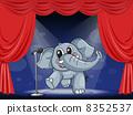 動物 大象 階段 8352537