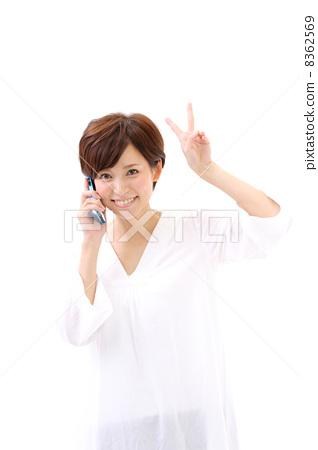 스마트 폰 · 여성 8362569