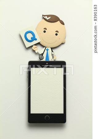 医生 博士 智能手机 8390163