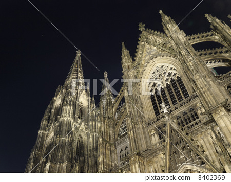 Night view of Cologne Cathedral 8402369
