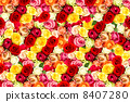 fresh assorted roses. colorful flowers. floral background 8407280