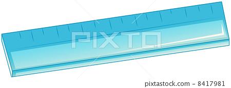 A blue ruler 8417981