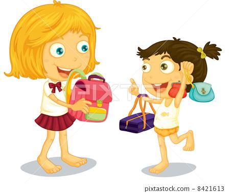 School children getting ready 8421613