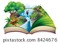 A storybook with an image of the gift of nature 8424676