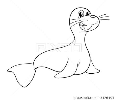a seal sketch 8426495